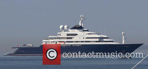 Microsoft founder Paul Allen's yacht Octopus, anchored off...