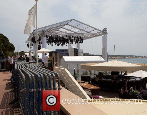 A general view Preparations for the 2011 Cannes...