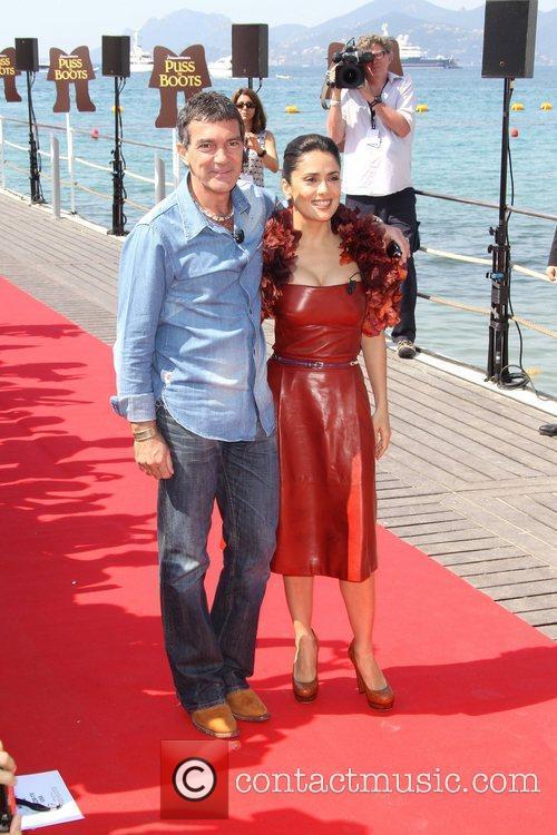 Antonio Banderas, Salma Hayek 2011 Cannes International Film...