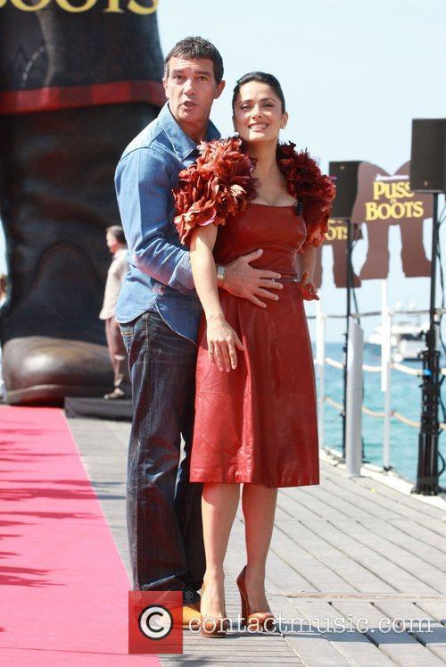 Antonio Banderas and Salma Hayek  2011 Cannes...
