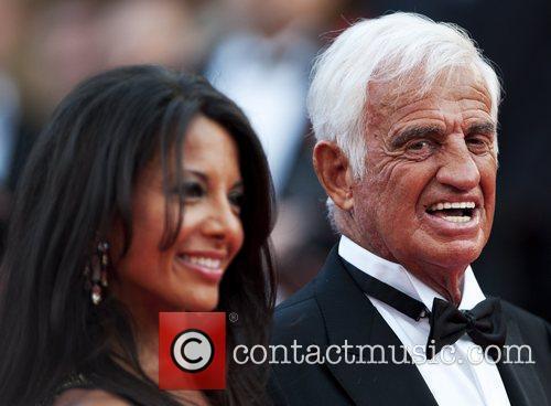 Barbara Gandolfi and Jean-Paul Belmondo 2011 Cannes International...