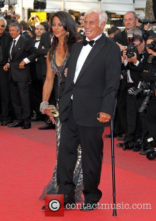 Jean-Paul Belmondo and Barbara Gandolfi 2011 Cannes International...