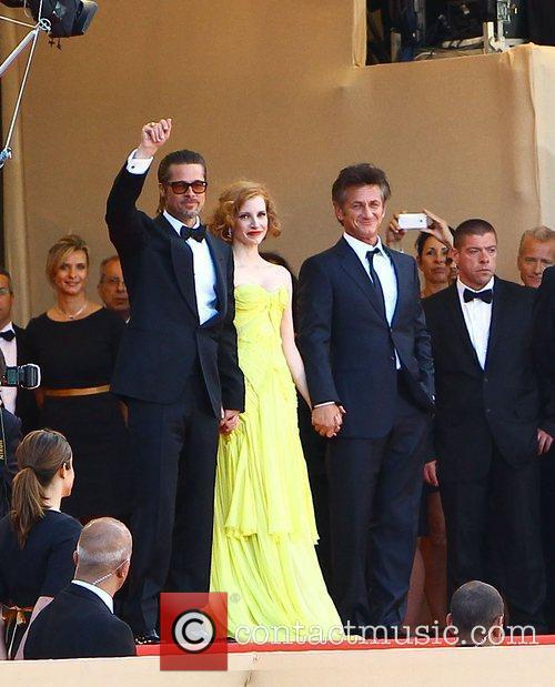 Brad Pitt, Jessica Chastain and Sean Penn 4