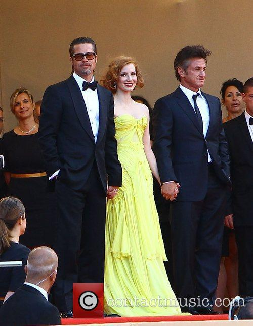 Brad Pitt, Jessica Chastain and Sean Penn 7