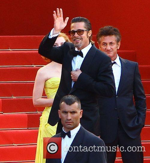 Brad Pitt, Jessica Chastain and Sean Penn 2