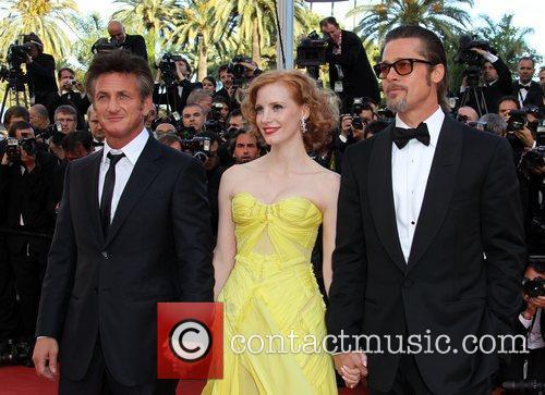 Brad Pitt, Jessica Chastain and Sean Penn 2011...