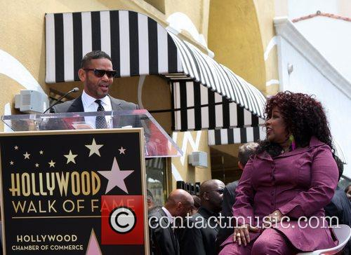 Recording artist Chaka Khan is honored with a...