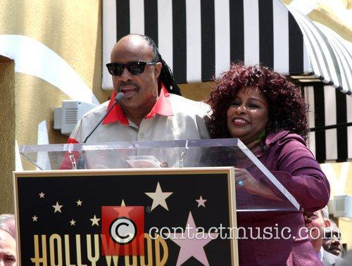 Stevie Wonder, Chaka Khan, Star On The Hollywood Walk Of Fame