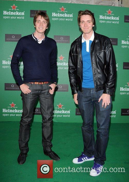 James Phelps and Oliver Phelps arriving at the...