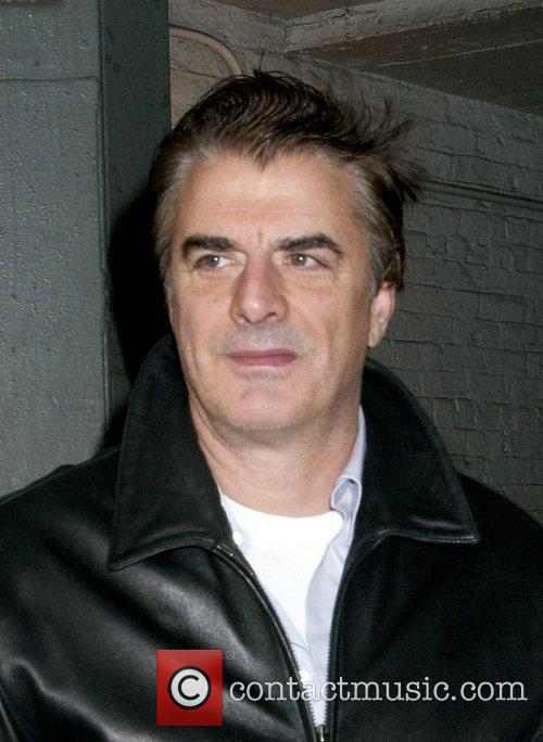 Chris Noth at the Bernard Jacobs Theater stage...