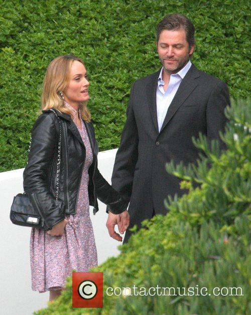 Amber Valletta and Chip McCaw,  arrives at...