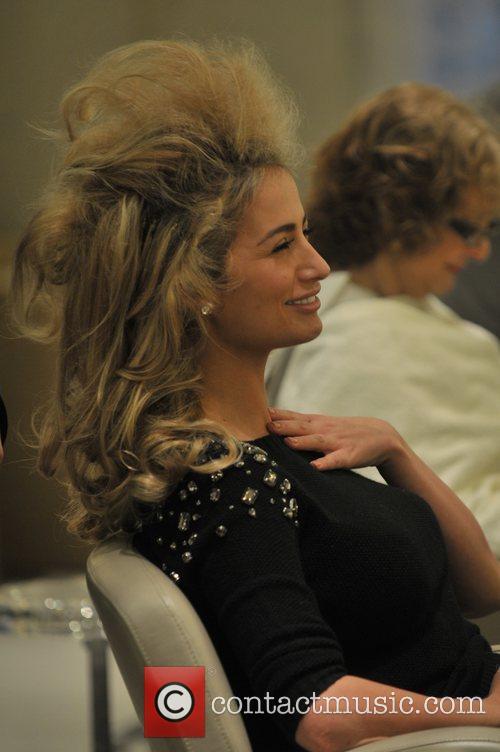 Chantelle Houghton  visiting Michaeljohn salon in Mayfair...