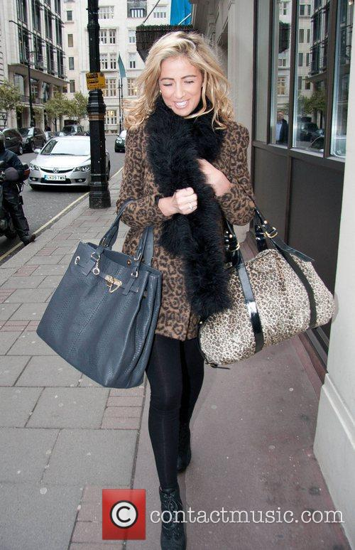 Chantelle Houghton leaving the May Fair hotel London,...