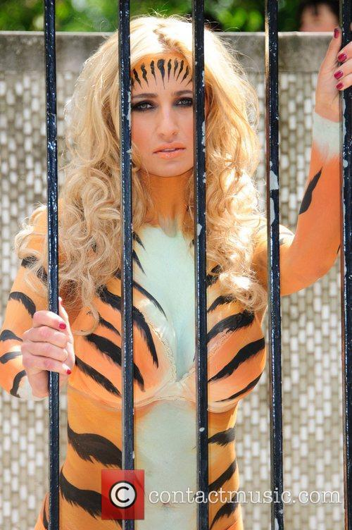 Chantelle Houghton painted as a 'Tiger Lady' to...