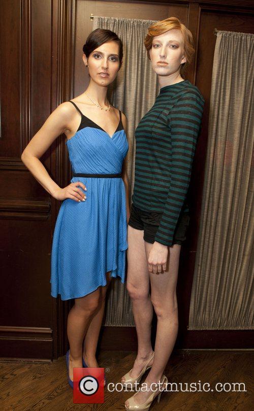 Laura Skamaide weraing Tracy Reese and Kacie Shepard...