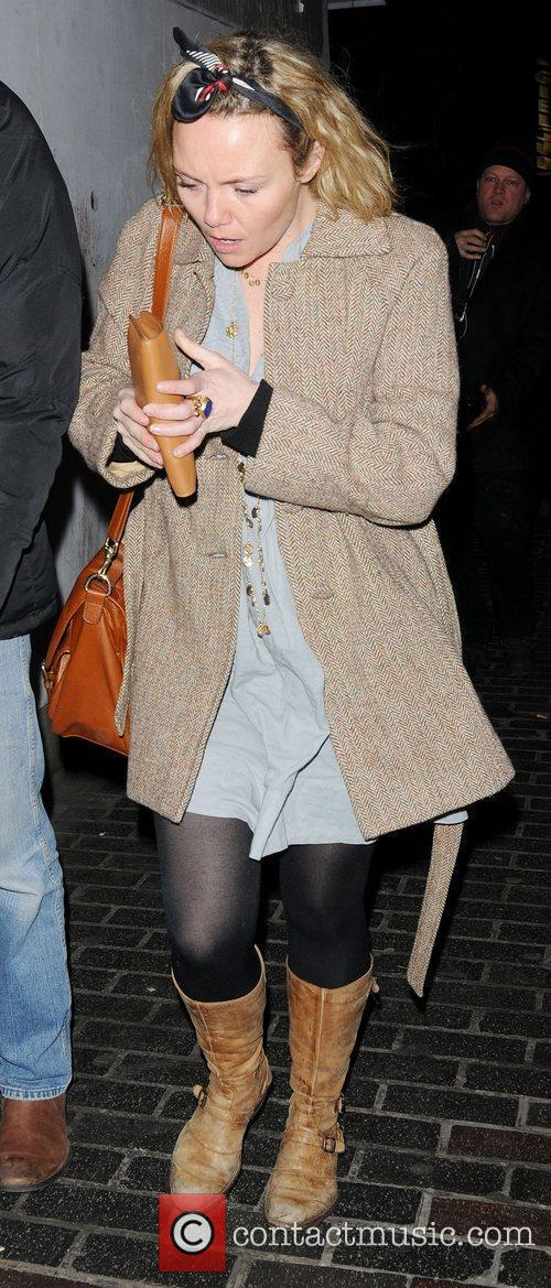Charlie Brooks out in Soho London, England