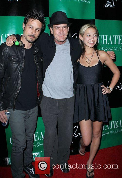 Rob Patterson, Charlie Sheen and Natalie Kenly Charlie...