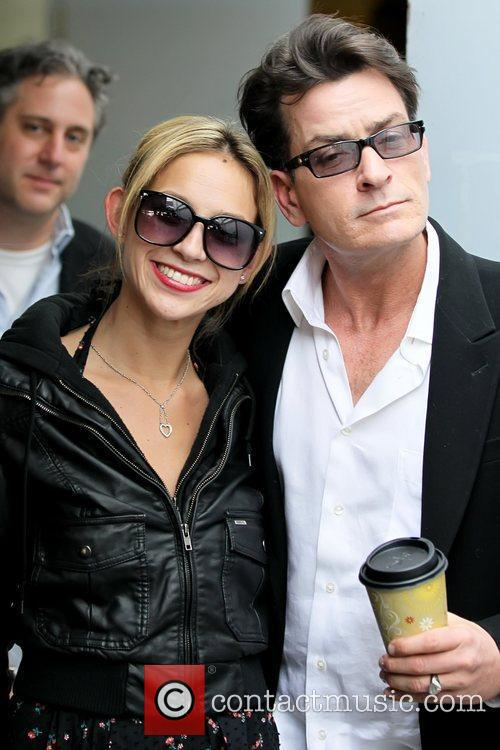 Charlie Sheen and ex girlfriend Natalie Kenly