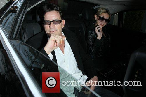 Charlie Sheen and Natty 11
