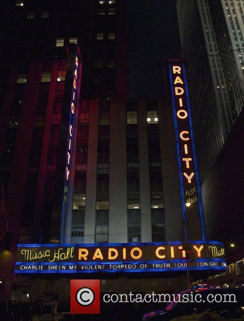 General view of Radio City Music Hall...