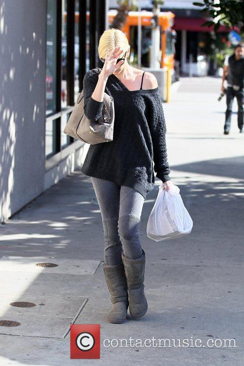 Charlize Theron picks up take-out food at Kings...