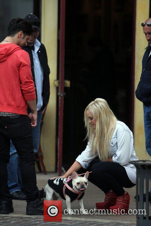 Lacey Schwimmer at The Grove to film an...