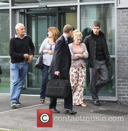 Leaving Prestatyn Magistrates Court after facing charges of...