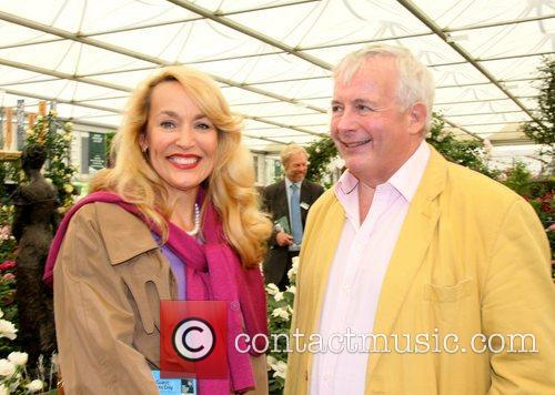 Christopher Biggins and Jerry Hall Chelsea Flower Show...