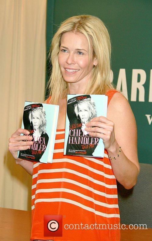Chelsea Handler signs copies of her new book...