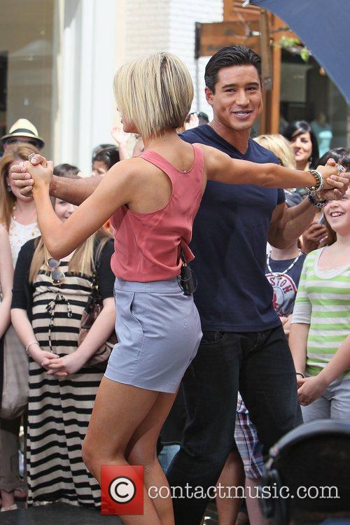 Chelsea Kane Chelsea Kane And Mario Lopez Dancing With The Stars Dancers Arrive At The Grove To Interview With Mario Lopez Los Angeles California 1 Picture
