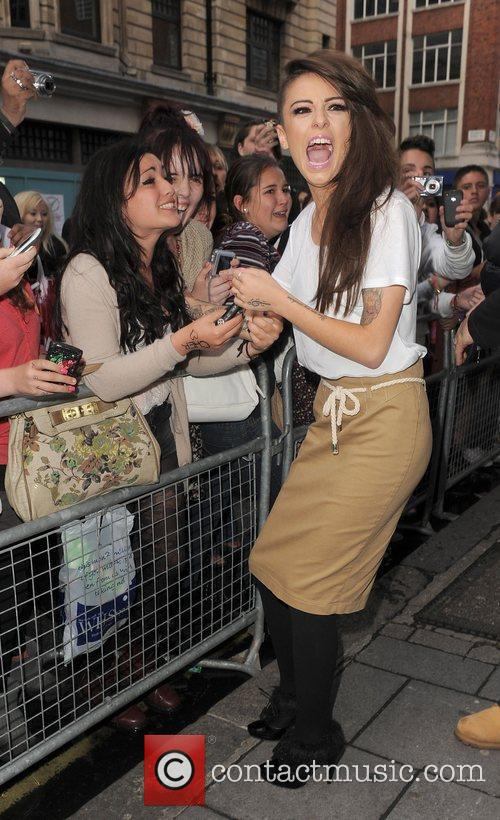 Cher Lloyd meets and greets a large number...
