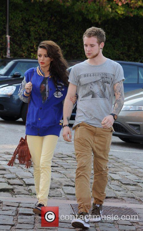 Cher Lloyd with boyfriend Craig Monk arriving at...