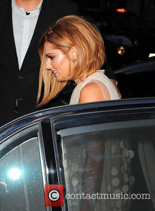 Cheryl Cole arrives for her birthday celebrations at...