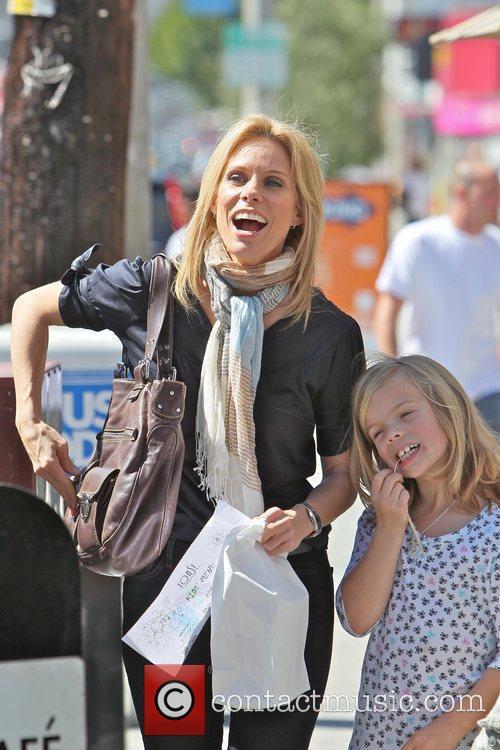 Cheryl Hines  is seen leaving Toast restaurant...