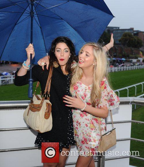 Cast members of Hollyoaks Bianca Hendrickse Spendlove and...