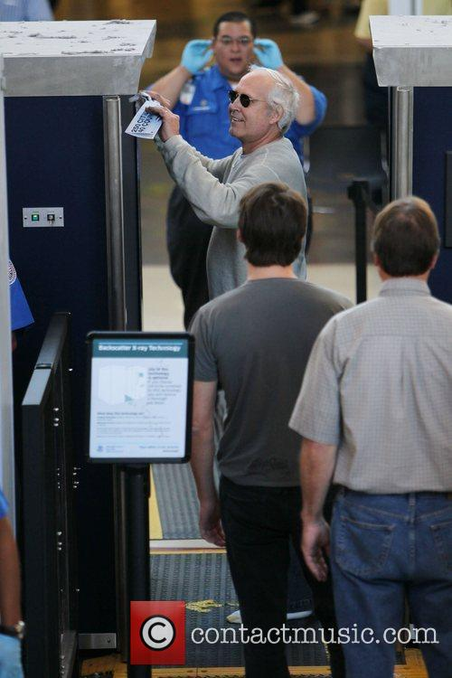 Chevy Chase check in at LAX Airport security...