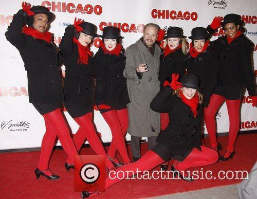 Barry Weissler and Chicago dancers 'Chicago The Musical'...