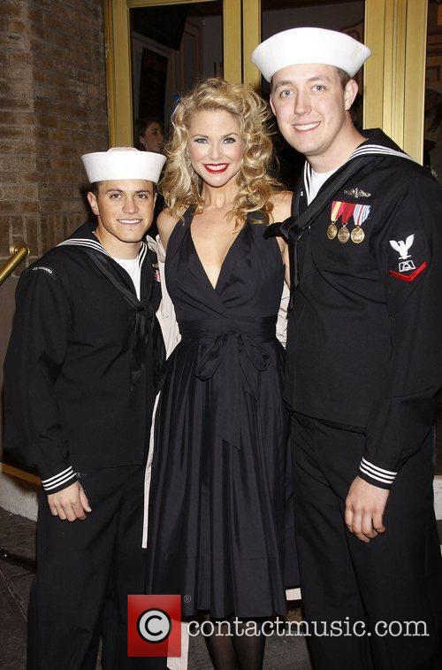 Christie Brinkley and her 'US Navy' Sailor fans...