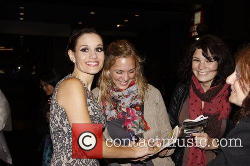 Kara DioGuardi signs autographs for fans Grammy-nominated songwriter...