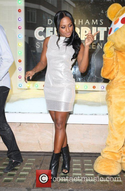 Alexandra Burke celebrates the launch of her fashion...