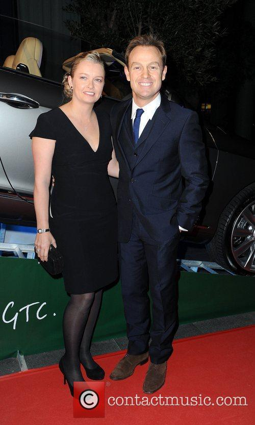 Jason Donovan with wife Angela Malloch,  at...