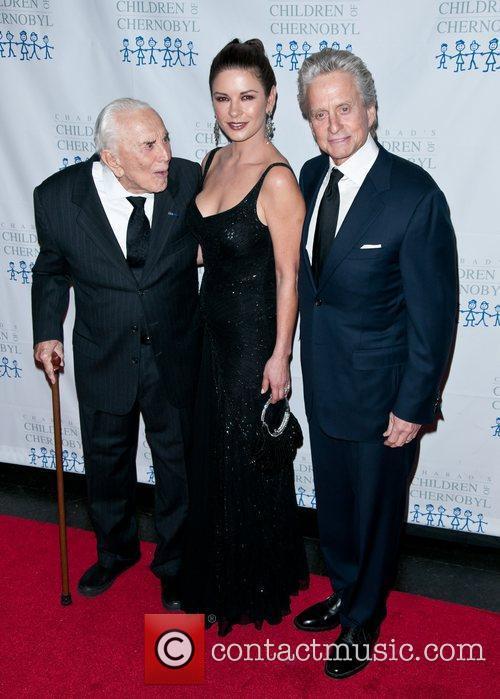 Kirk Douglas, Catherine Zeta Jones and Michael Douglas 1