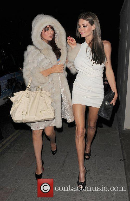 Amy Childs and Nicola McLean arrive back at...