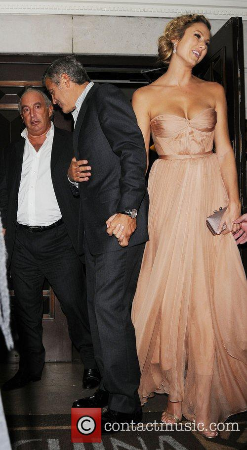 George Clooney and Stacy Keibler 2