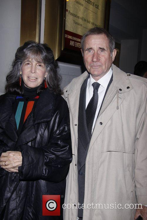 Julia Schafler and Jim Dale Opening night of...