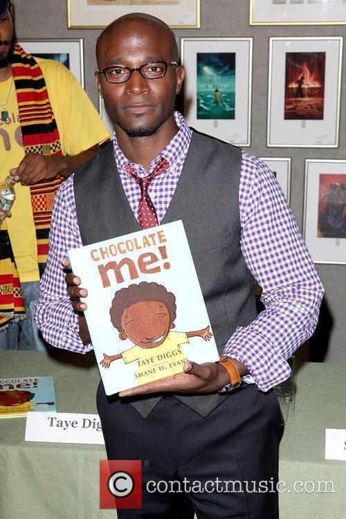 Promotes his new children's book 'Chocolate Me' at...