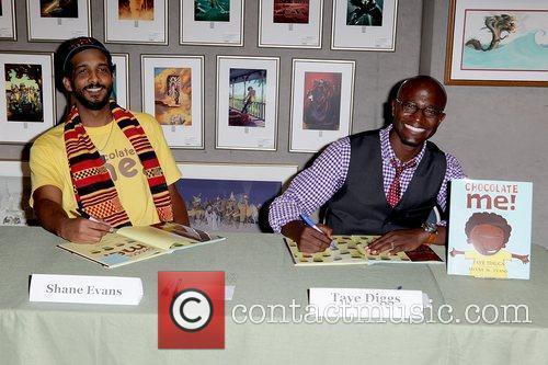 Taye Diggs and Illustrtor, Shane W. Evans promote...