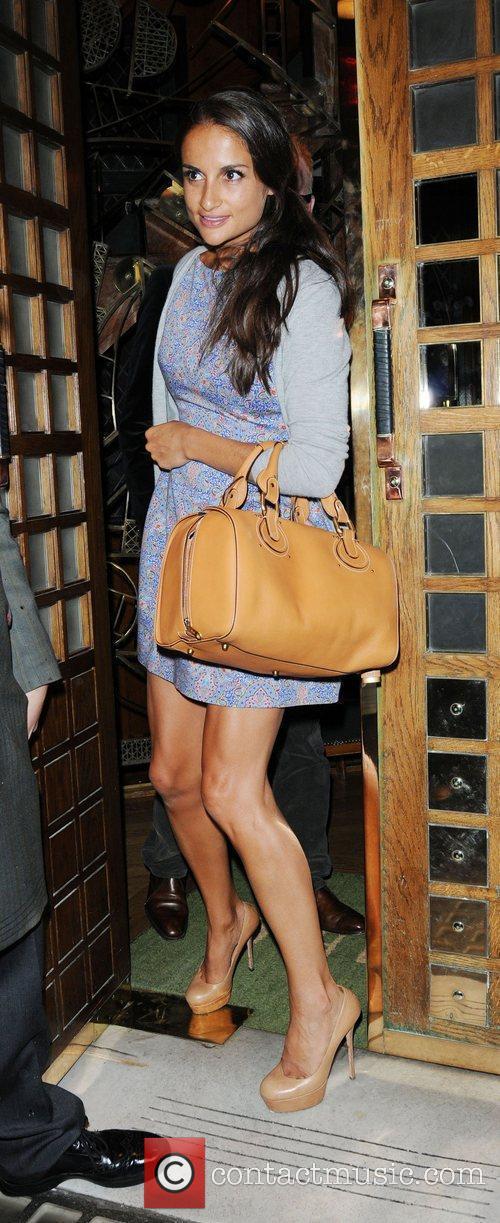 Natasha Shishmanian is seen leaving The Ivy restaurant