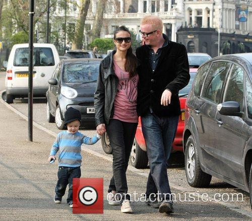 Chris Evans and his wife Natasha Shishmanian take...