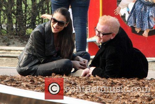 Chris Evans and his wife Natasha Shishmanian...
